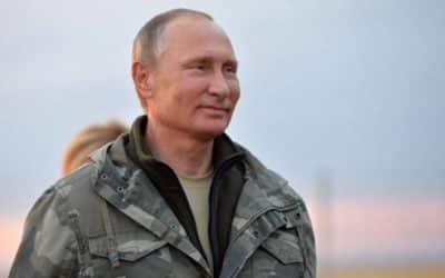 Putinov nekončiaci humor.