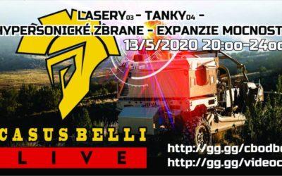 Casus Belli 95 – Tanky diel 4, Lasery diel 3, Hypersonické zbrane, Expanzia mocností…