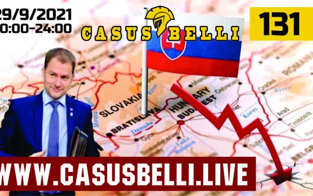 Casus Belli 131 – Stav SVK v zdravotnictve-host, Stav SVK ekonomiky a zdravotnictva-host, Novinky, Afgan, Iran, Azerbajdzan, Syria, Srbsko, Kosovo